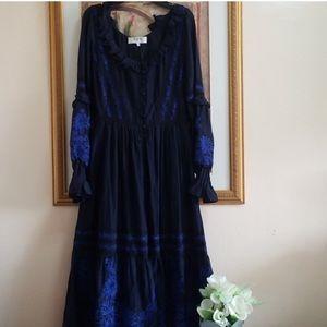 Sea peasant dress,